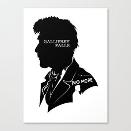 The War Doctor - Quote Silhouette Canvas Print
