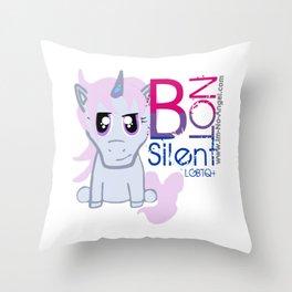 Snark Unicorn-B Not Snt Throw Pillow