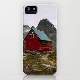 The Mint Hut in Hatcher Pass, Alaska iPhone Case