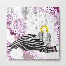 Beloved Zebra Metal Print