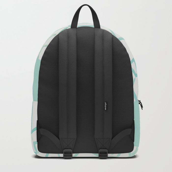 Abstract on Turquois Backpack