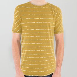 Lines / Yellow All Over Graphic Tee