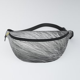 Grass Texture In Black And White Fanny Pack