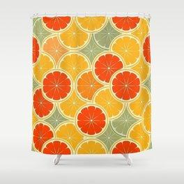 Summer Citrus Slices Shower Curtain