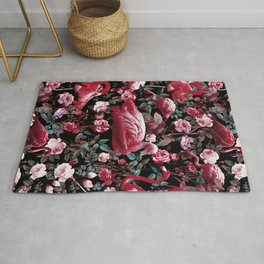 Floral and Flamingo VIII pattern Rug