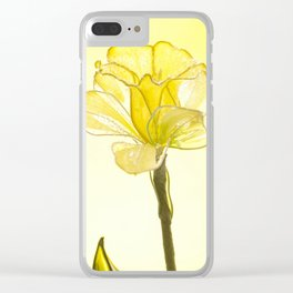Yellow Botanical Summer Blossom Clear iPhone Case
