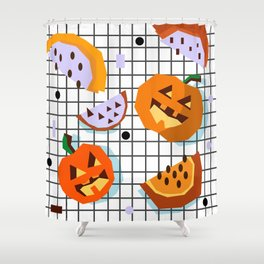 Happy Halloween Pumpkins Shower Curtain