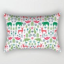 Christmas woodland scandinavian folk animals forest nature pattern gifts Rectangular Pillow