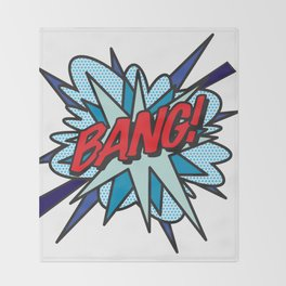 Comic Book Pop Art BANG Throw Blanket