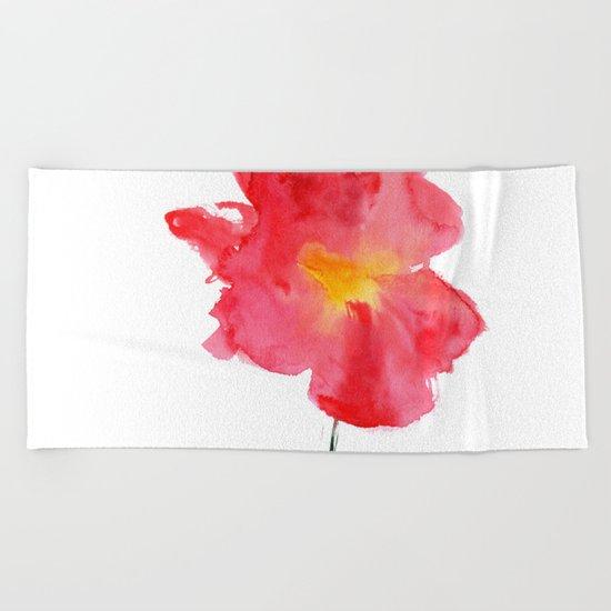 Dream big || watercolor flower Beach Towel