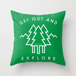 Get Out and Explore Throw Pillow