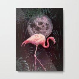 Flamingo in the Jungle Metal Print