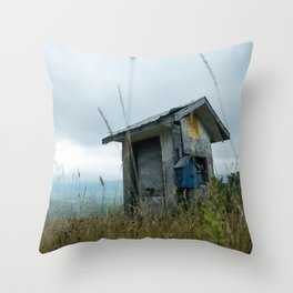 The lonely cabin Throw Pillow