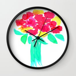 Watercolor Bouquet Wall Clock