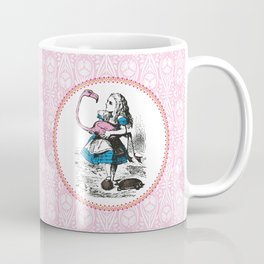 Alice in Wonderland | Alice playing Croquet with a Flamingo and Hedgehogs Coffee Mug