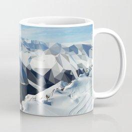 low poly mountains Coffee Mug