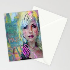 bus stop girl  Stationery Cards