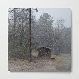 snowy afternoon Metal Print