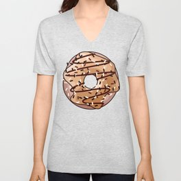 Toffee and Chocolate Donut Unisex V-Neck