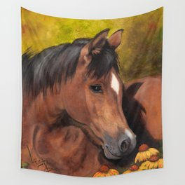 Little Brown Filly Wall Tapestry