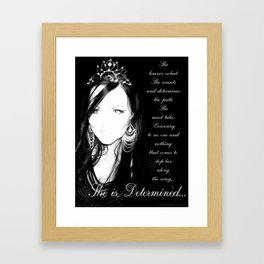 She is Determined Framed Art Print