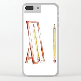 No. 1 Pencil Clear iPhone Case