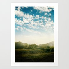 Over the Hill and Far Away Art Print