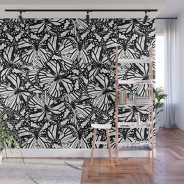 Monarch Butterflies Pattern | Butterfly Pattern | Black and White | Wall Mural
