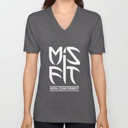 Misfit (Non-Conformist) Unisex V-Neck