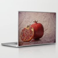pomegranate Laptop & iPad Skins featuring pomegranate by lucyliu