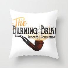 The Burning Briar Throw Pillow