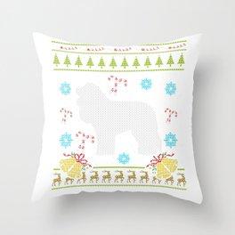 Cockapoo Christmas Ugly Shirt Dog Shirt Sweater Ugly Design Throw Pillow