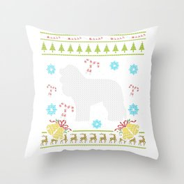 Cockapoo Christmas Ugly Shirt Dog Shirt Sweater Ugly Design Throw Pillow