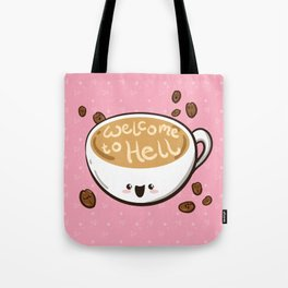Sweet & Sinister: Pink Coffee Cup Tote Bag