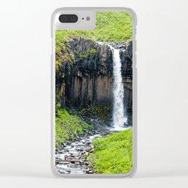 Svartifoss Waterfall - Iceland Clear iPhone Case
