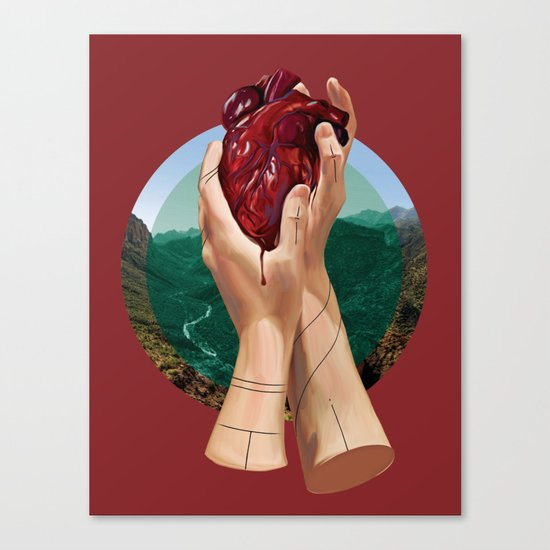 In Its Grip Canvas Print