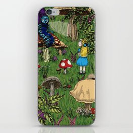 Alice and the caterpillar iPhone Skin