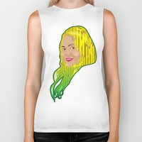 jamaica Biker Tanks featuring Jamaica Girl by Theophilus Marks