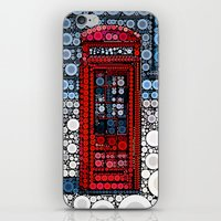 telephone iPhone & iPod Skins featuring Telephone by start from scratch