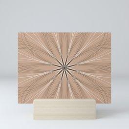 Gentle Geometric Flower - c13437.8 Mini Art Print