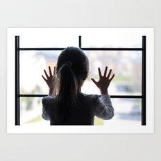Window Girl Art Print