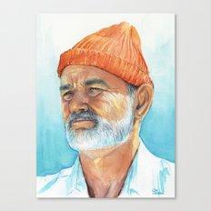 Bill Murray as Steve Zissou Portrait Art Canvas Print