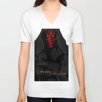sith V-neck T-shirts featuring sith lord by shizoy