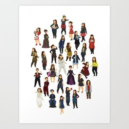 Every Clara Outfit Ever   S7 Art Print