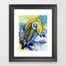 Pattern Parrot Framed Art Print