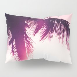 pink palm tree silhouettes kihei tropical nights Pillow Sham