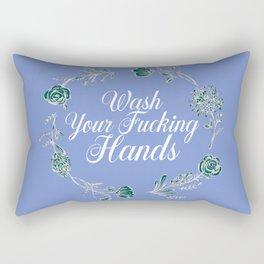 Wash Your Fucking Hands. Rectangular Pillow