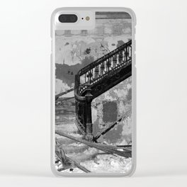 Elegance, urban exploration Clear iPhone Case