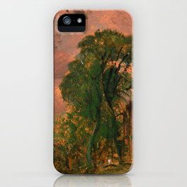 """John Constable """"A View at Hampstead with Stormy Weather"""" iPhone Case"""