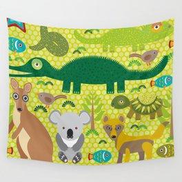 Animals Australia snake, turtle, crocodile, alliagtor, kangaroo, dingo Wall Tapestry